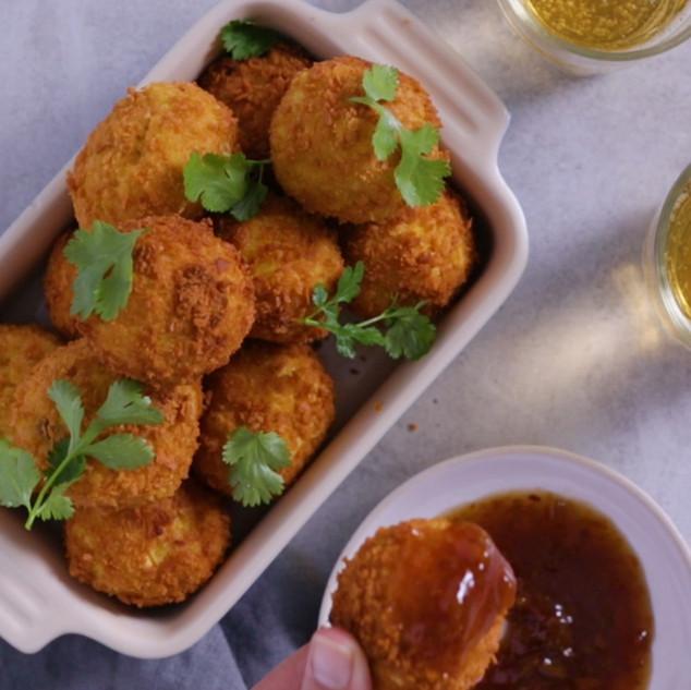 Deep Fried Curry & Rice Bites
