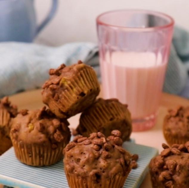 Mini Choconana Crumble Muffins