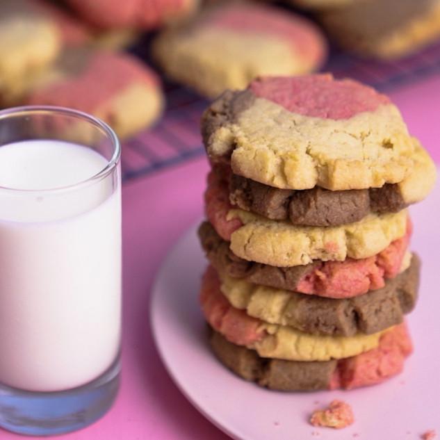 Neapolitan Swirl Cookies