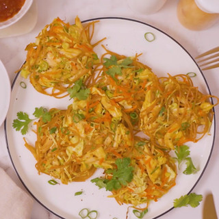 Chicken Stir-Fry 'Noodle' Fritters