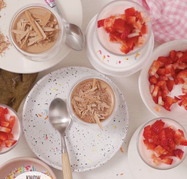 4-Ingredient Strawberry vs. Chocolate Mousse