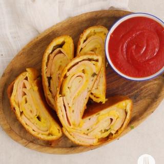 Polony & Cheese Garlic Bread Loaf