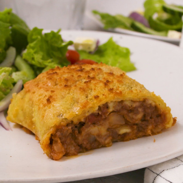 Cheesy Mince Potato Roll-Up