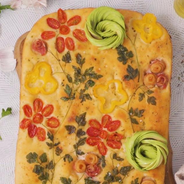 2-Ingredient Dough Focaccia Garden