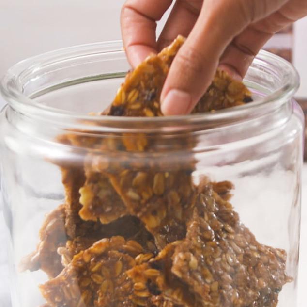 Microwave Granola Brittle