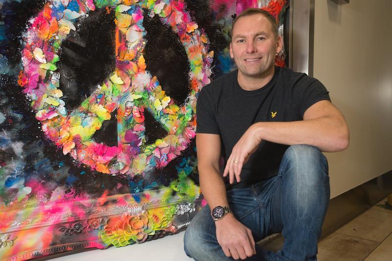 London mixed media artist artist Dan Pearce