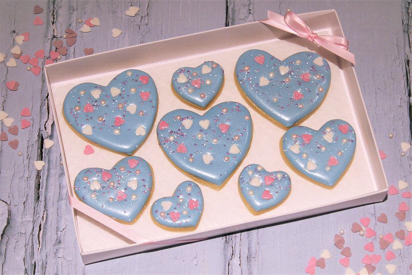 Blue Sprinkle Heart - Gift Box