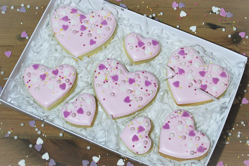 Pink Sprinkle Heart - Gift Box