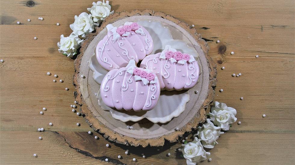 Fairy Tale Pumpkins - Pink and White