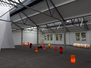 LinienKaskade, 2018 & light-soaked, 2016–2018 & Lichtwelle, 2018