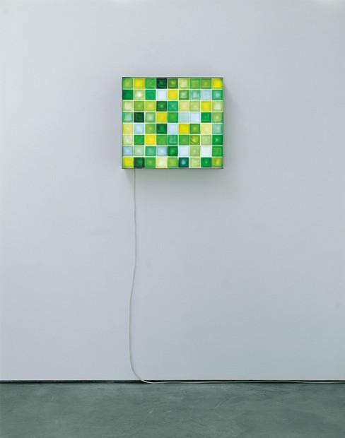 Leuchtkasten – Grün III, 2007