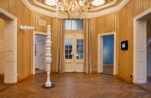 Vase – horizontal I, 2014 & Scheibensäule Gelsenkirchener Barock, 2017