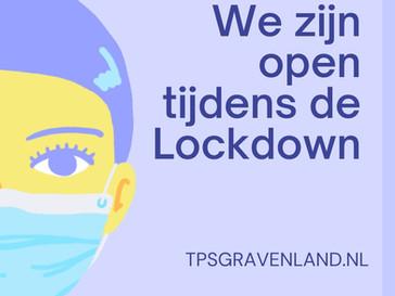 We zijn open tijdens de lockdown