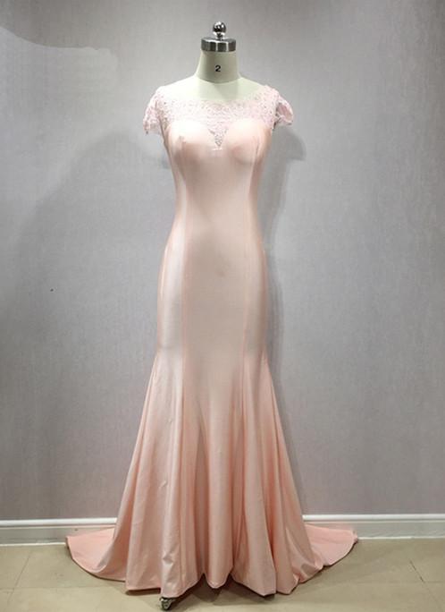 Pink Satin Wedding Dresses
