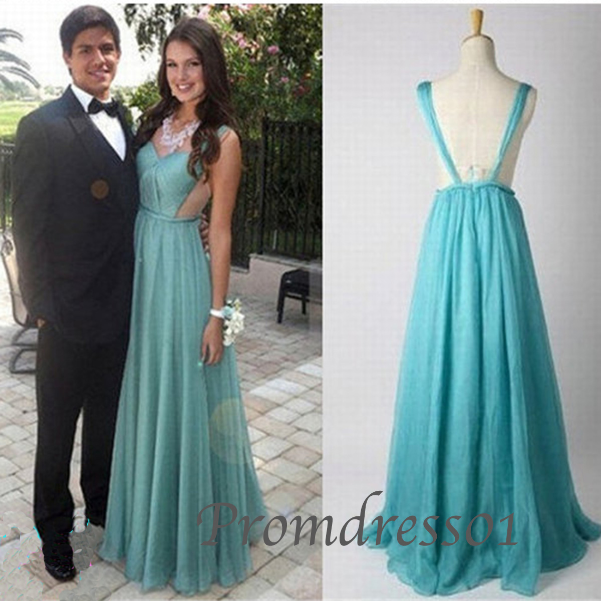 Turquoise Backless Prom Dress_Prom Dresses_dressesss
