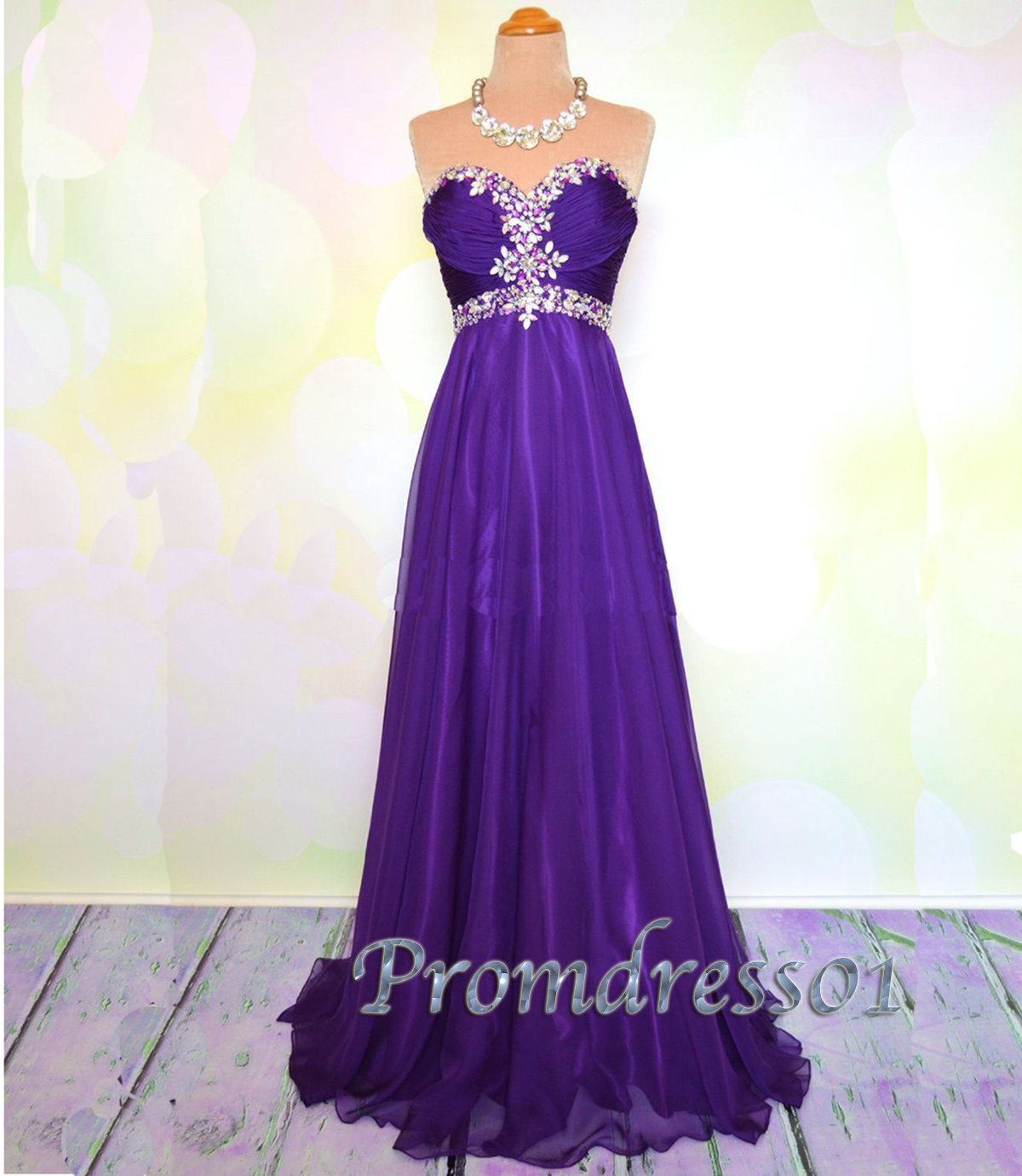Elegan purple long prom dress with bead and sequin | Prom dresses ...