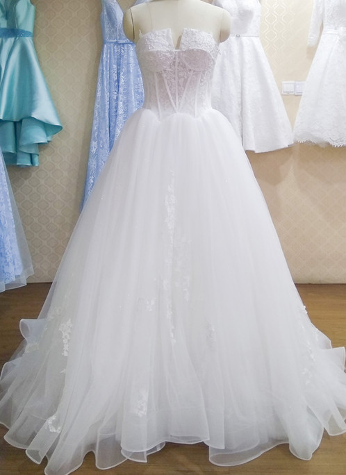 Princess sweetheart neck long prom gown with beads   Prom and ...