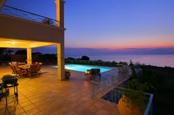 Fiskardo House patio dawn