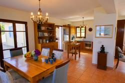 Fiskardo House Dining Room + Kitchen