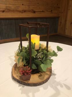 Small Tabletop Bronze Lantern