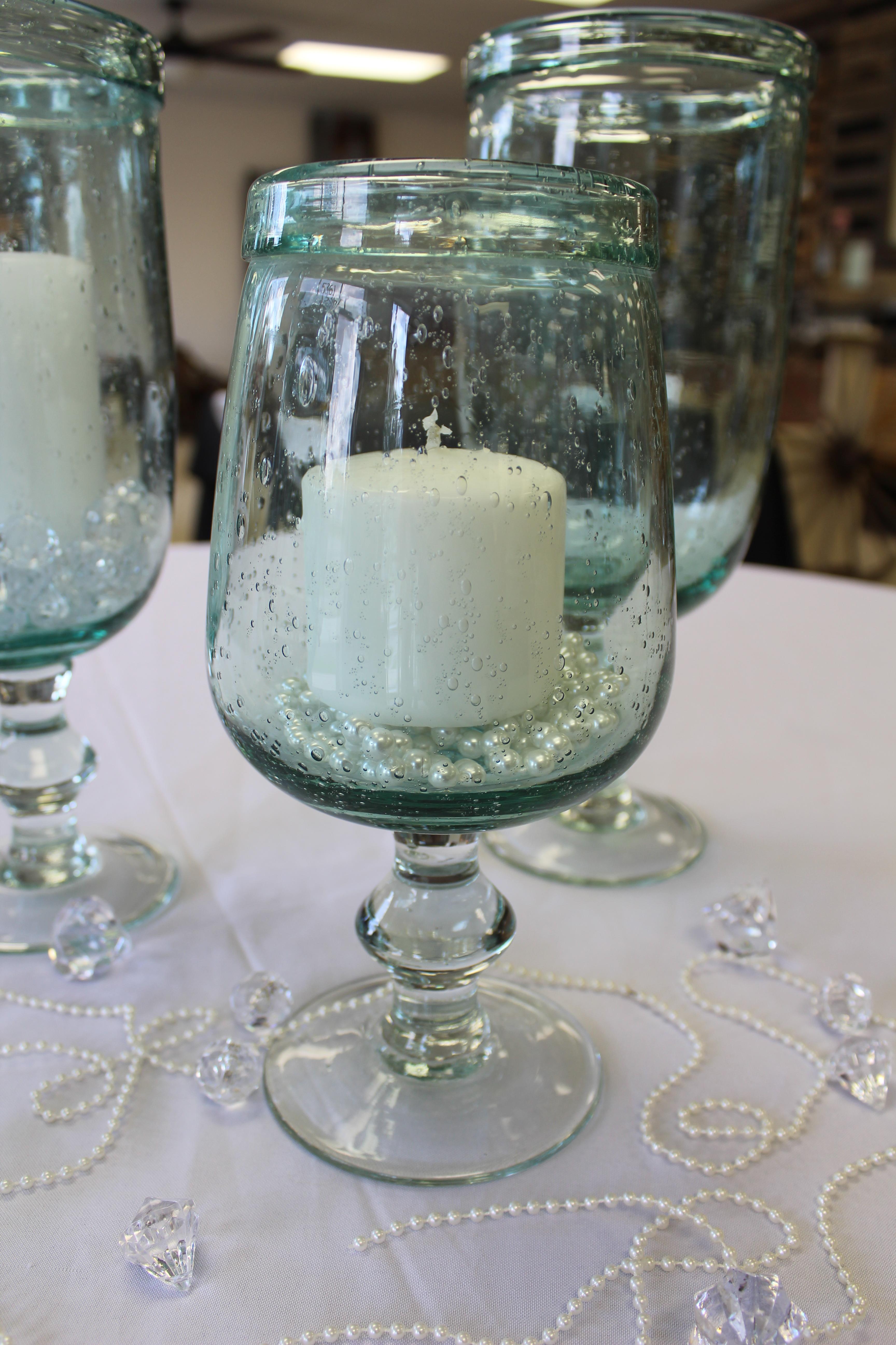 Large Bubble Glass Vases