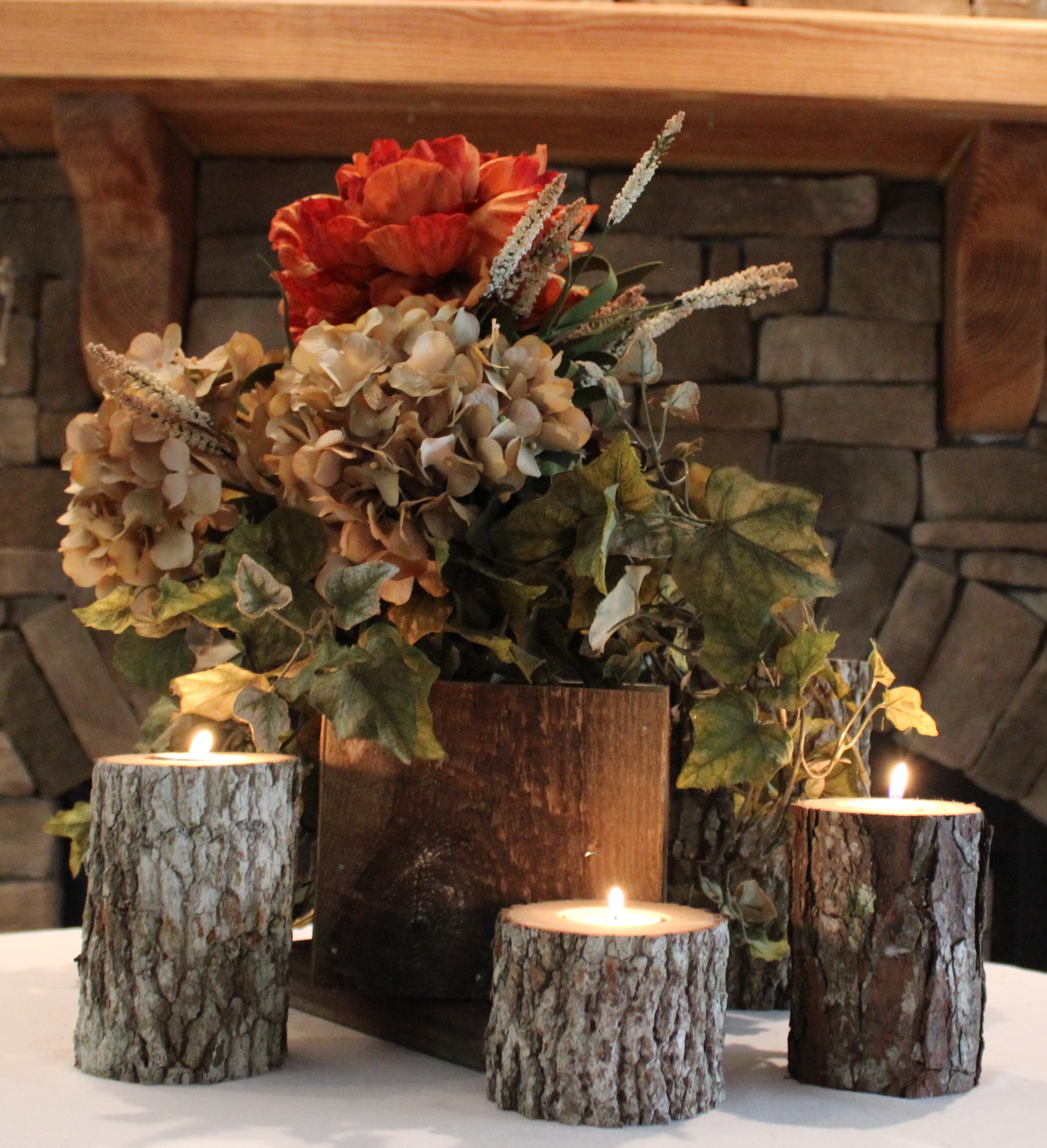 Wood Candle Pillars