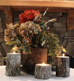 Wood Candle Pillars
