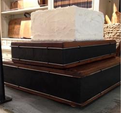 Chalk block cake stand