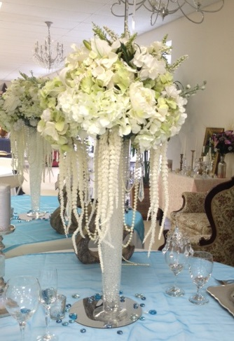 tall vase flower arrangement
