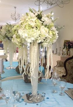 tall vase flower arrangement