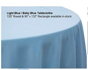 Baby Blue Tablecloth Polyester