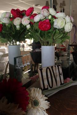 "10"" White Cylinder Vases"