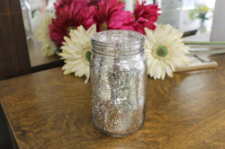 Silver  Mercury Mason Jars