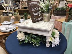 White Wood Cake Stand