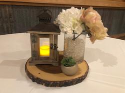 Small wood lantern & mason jar