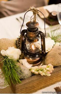 bronze oil lantern