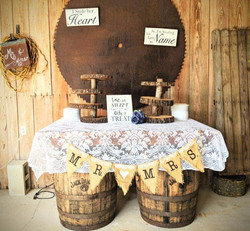 Wood tiered cupcake stands