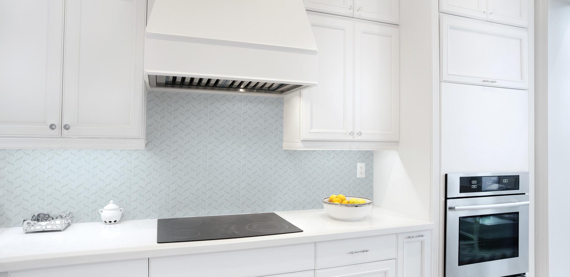 POM Truth Blue Petal Mosaic KitchenBacks