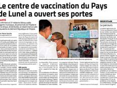 """Le centre de vaccination du Pays de Lunel coordonné par la CPTS """"Pays de Lunel"""""""