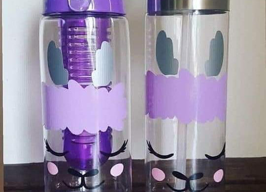 Personalised llama bottle. Gift for her