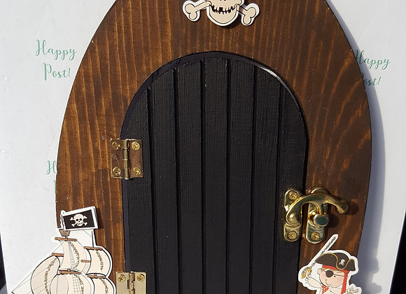 Pirate Themed Wooden Door