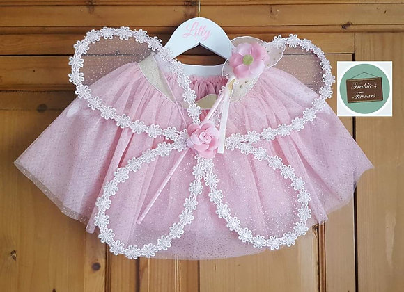 Fairy princess themed dress up costume with personalised coat hanger