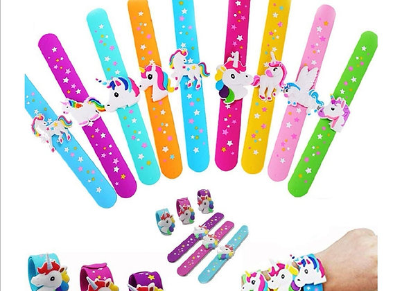 Unicorn slap band bracelet, unicorn jewellery, jewelry, cosplay, party favors, c
