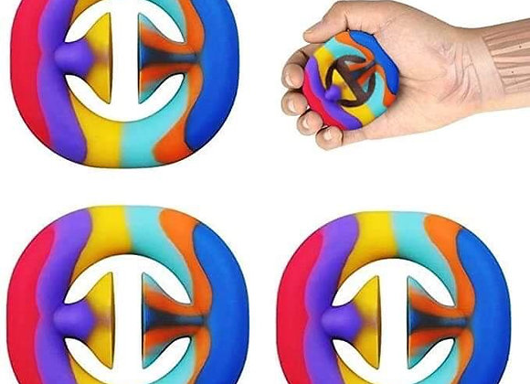 Snappers Fidget Toy/ Squeeze/ Stress Relief/ Noise Maker/ rainbow/ yellow