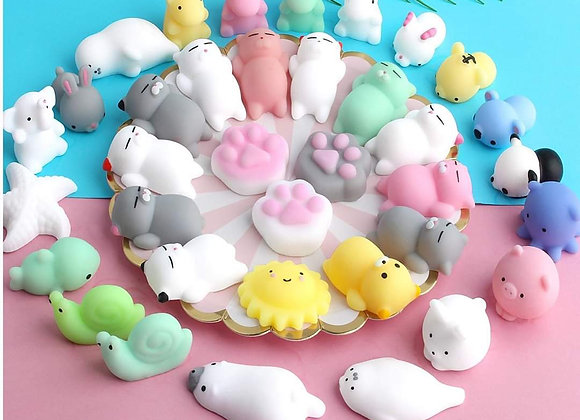 Squishies Mochi, cute squeeze, stress relief, party bag fillers, fidget