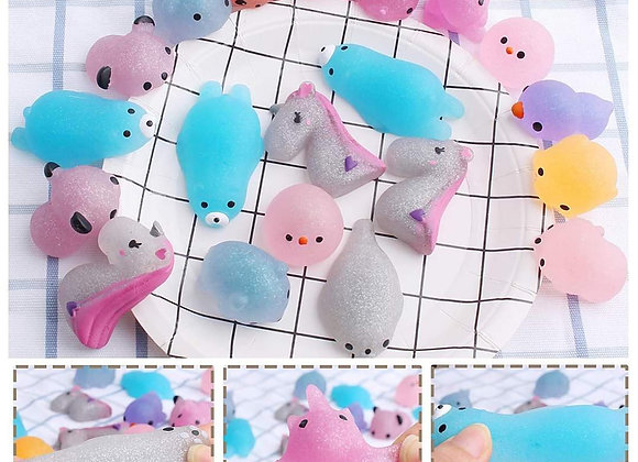 Glitter Mochi squishies cute squeeze stress relief, party bag fillers, random, s