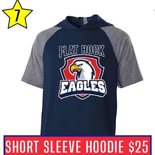 Blue Short Sleeve Hoodie