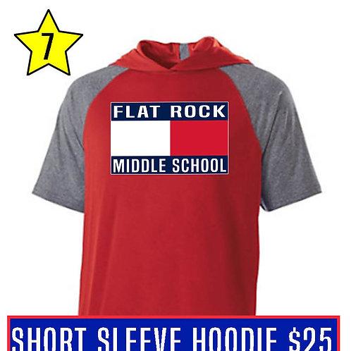 Red Short Sleeve Hoodie