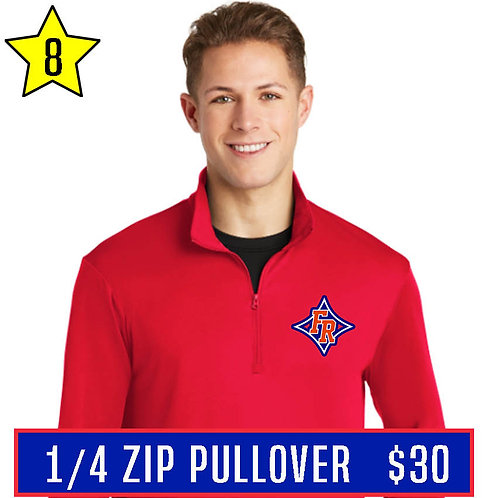 Red 1/4 Zip Pullover