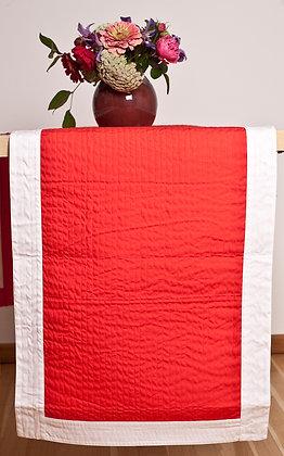 Quiltläufer Rot/Weiß